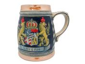 German Bayern Coat of Arms Engraved Beer Stein