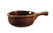 CAC China OC-15-H 440ml Stoneware Round Onion Soup Crock with Handle, 7-1/2 by 13cm by 5.7cm , Brown, Box of 24