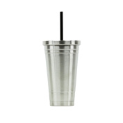 Hot or Cold - Stainless Steel Drink Tumbler - Double Wall Vacuum Insulated -530ml Capacity - Stainless
