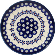 Polish Pottery Plate 17cm From Zaklady Ceramiczne Boleslawiec #Gu-818-166a Floral Peacock Traditional Pattern, 17cm Diameter