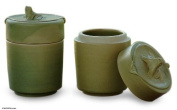 Ceramic sugar bowls, 'Lily-Frogs'