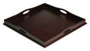 Mountain Woods 60cm Square Ottoman Luxury Wooden Serving Tray