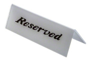 American Metalcraft 2601H Plastic Reserved Heavy Weight Sign, 5.1cm by 15cm