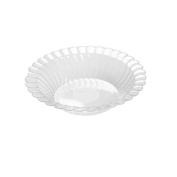 Flairware Round Rippled Disposable Plastic 300ml Soup Bowl (180/Case) Colour