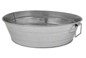 American Metalcraft MTUB12 Natural Galvanised Tub with Side Handle, 30cm