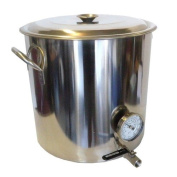 30.3l Stock Pot / Kettle with Valve and Thermometer