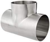 Dixon B7WWW-R400P Stainless Steel 316L Polished Fitting, Weld Short Tee, 10cm Tube OD