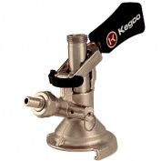 Keg Taps Coupler M System - Ergonomic Lever Handle - Stainless Steel Probe - Kegco KT2410W-M