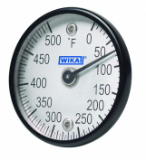 WIKA TI.ST Stainless Steel Surface Mount Bi-Metal Thermometer with Dual Magnet, 5.1cm Dial, -20/120 Degrees C, 1.3cm Depth