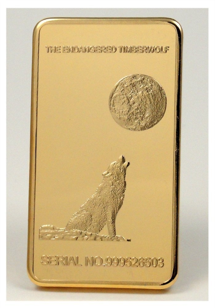 1 Troy Ounce 24k Howling Wolf Yosemite National Park Half