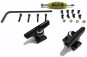 4CFB Professional Style Fingerboard Trucks with Allen Key / 29mm Wide Colour : Black