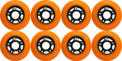 OUTDOOR Inline Skate Wheels ASPHALT Formula 76MM 89a ORANGE x8