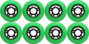 OUTDOOR Inline Skate Wheels ASPHALT Formula 80MM 89a GREEN x8