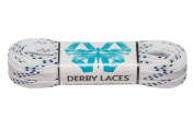 White 240cm Waxed Skate Lace - Derby Laces for Roller Derby, Hockey and Ice Skates, and Boots