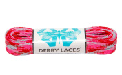 Pink Camouflage 150cm Waxed Skate Lace - Derby Laces for Roller Derby, Hockey and Ice Skates, and Boots