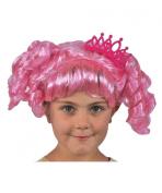 Mga Lalaloopsy Jewel Sparkles Dress-Up Pink Wig With Tiara