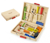 Viga Twelve Piece Wooden Tool Set in Storage Box #50388