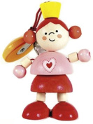 Hess Wooden Baby Toy Figurine Chain Princess Clip On