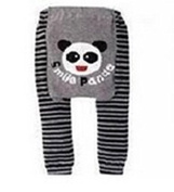 BABY TODDLER INFANT LEGGINGS TIGHTS PANTS UNISEX WITH ADORABLE ANIMAL DESIGN PANDA SMILE LARGE