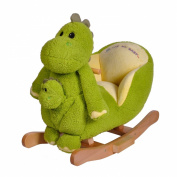 Knorrtoys 40353 Herbert the Rocking Dinosaur with Sound and Hand Puppet