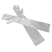 60cm Women's Long Satin Elbow Gloves Evening Party