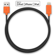 Pawtec Lightning to USB Charge and Sync Cable Apple MFi Certified 3.3 Feet/1Meter for iPhone 6 5S 5C iPad Mini Air iPod