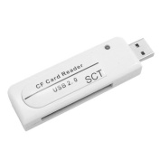 SCT USB 2.0 Compact Flash Card Reader / Writer (R.559) Supports SanDisk Kingston Adata Sony Toshiba Transcent for Samsung Lexar SCT 1GB 2GB 4GB 8GB 16GB 32GB 64GB 128GB CompactFlash Type I and II