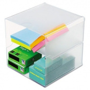 deflect-o - Desk Cube, Divided, Clear, 6 x 6 x 6