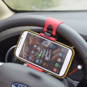 Wooku Mobile Phone Holder Mount Clip Buckle Socket Hands Free on Car Steering Wheel for iPhone 5/5G/ 4/4S,HTC, for for for for for for for for for for Samsung Galaxy, PDA and Smart Cellphones