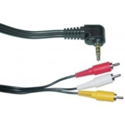 3.7m 3.5 mm to 3 RCA AV Camcorder Video Cable