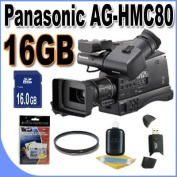 Panasonic AG-HMC80 3MOS AVCCAM HD Shoulder-Mount Camcorder with 16GB Accessory Kit