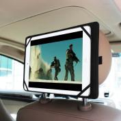 Fintie Universal Car Headrest Mount Holder for 18cm to 28cm Tablet PC Inclu. iPad Air, iPad 1 2 3 4 5 6, iPad Mini, for Samsung Galaxy Tab, Tab Pro, Tab S, Galaxy Note, Google Nexus 7 10, LG G Pad, Dell Venue, Asus Memo Pad and More, Black