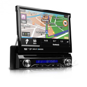 XTRONS Single Din 18cm Motorised Detachable HD Touch Screen Car Stereo In Dash USB SD IPOD DVD Player GPS Navigation Radio RDS Bluetooth 1 DIN