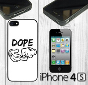 Dope Character Hands Custom made Case/Cover/skin FOR iPhone 4/4s - Black - Rubber Case