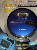 Emerson Jog Proof Personal Cd Player with 60-second Anti-skip, Remote Control, and Car Kit, Model Hd8150bl