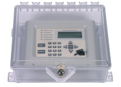 STI 7520 NEMA 4X Protective Cabinet with Backplate and Key Lock - Clear Multipurpose Polycarbonate Enclosure