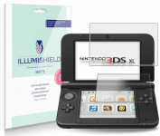 iLLumiShield - Nintendo 3DS XL Screen Protector / Anti-Glare (Matte) HD Clear Film / Anti-Bubble & Anti-Fingerprint / Premium Japanese High Definition Invisible Crystal Shield - Free LifeTime Warranty - [3-Pack] Retail Packaging