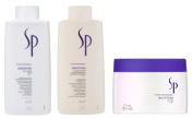 Wella SP Smoothen SHAMPOO 1000ml, CONDITIONER 1000ml and MASK 400ml.