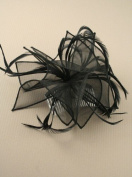 Allsorts® Large Black Hat Fascinator Weddings Ladies Day Race Royal Ascot