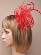 Allsorts® Large Red Looped Fascinator Weddings Ladies Day Race Royal Ascot