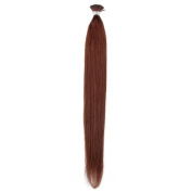 Beauty7 Stick/ I Tip Hair Extension Remy Real Human Hair 100g/50g(1g/strand) Dark Auburn (#33) Hair Colour Straight Hair 46cm 50cm 60cm 60cm
