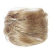 American Dream Medium Human Hair Bun, Natural Ash Blonde Number 14