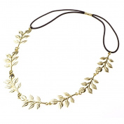 Elegant Olive-Leaf-Pattern Hairband Headwrap Headband Hair Styling Accessories