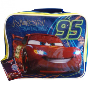 Boys Disney Pixar Cars Lightning McQueen Neon Speed School Travel Lunch Bag