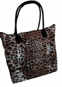 Ladies Womens Shopping Shoulder Carrier Bag Summer Beach Bag Animal Print