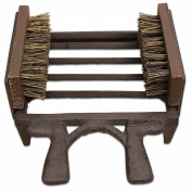 Homescapes 2 in 1 Rustic Cast Iron Wellington Boot Scraper and Brushes Boot Jack