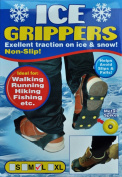 Ice Grippers (Pair) - Finally get traction on ICE and SNOW! (Large