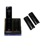 Wii Dual Charging Dock Including 2 x High Capacity Wii Controller Batteries (2800 MaH) BLACK