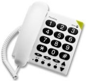 Impressive-Power DORO - 311C - TELEPHONE, CORDED, BIG BUTTON 311C, WHITE - Min 3yr ClevaUK Warranty