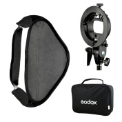 Godox 60x60 Foldable Universal Softbox with S Style Speedlite Bracket for Flash Bowens Mount Accessories Direction Adjustable